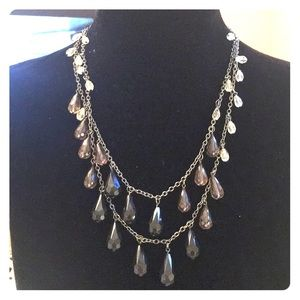 Double stranded beaded strands 18-22 inches greys